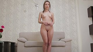 Virgin girl masturbates during her casting Preview Image