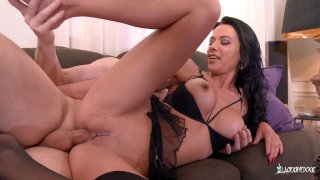 Lusty gal in lingerie takes it in the ass hard Preview Image