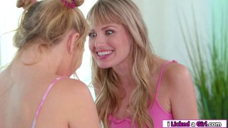 Blonde teen babe makes her bff squirt Preview Image
