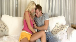 Blonde barbie girl_gives great blowjob and_gets naked Preview Image
