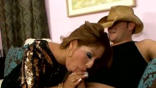 Dirty Latino whore gives blowjob to a cool_cowboy Preview Image