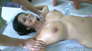 Busty and beautiful milf Ava Adams gets erotic massage Preview Image