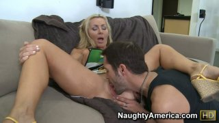 Sexy mom Lisa DeMarco giving a blowjob and fucking young and strong cock Preview Image