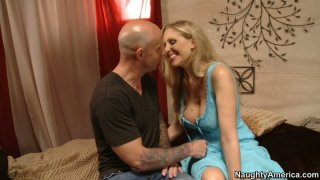 Blonde slut Julia Ann fucking at the first date and sucking cock deepthroat Preview Image