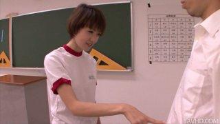 Petite Japanese girl Akina Hara blowjob classes Preview Image