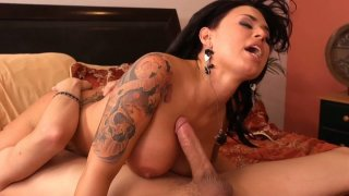 Legendary brunette babe Eva Angelina rides cock with her sizzling pussy Preview Image