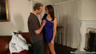 Big saggy tittied Raylene gives blowjob Preview Image