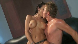 Sexy brunette bitch Alektra Blue rides the cock fiercely Preview Image
