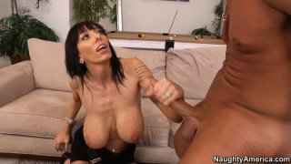 Mature cum dumpster Alia Janine gives titjob_and receives licking Preview Image