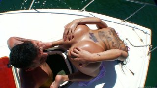 Hot Gina Jolie takes sun bath for her hot ass Preview Image