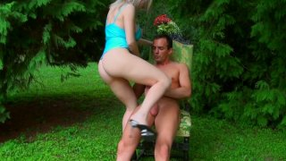 Pale blond head Isabella_Clark rides a cock on the deck chair Preview Image