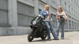 Legendary porn babes Alexis Texas and Briana Blair fucking biker boy Preview Image