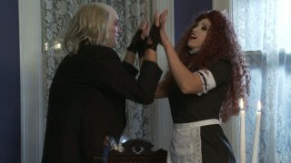Ugly frankenstein drills sexy housemaid Nicki Hunter with his huge dick Preview Image