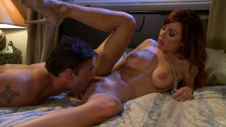 Buxom pale skin hoochie Kirsten Price gets her cunt pleased in all ways Preview Image