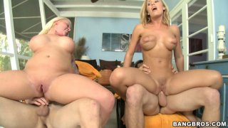 Two chicks Angel Vain and Nicole Aniston have fun with_two guys Preview Image