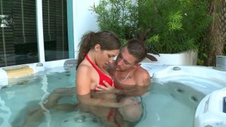 Bootylicious brunette Kiera King gonna please a cock in jacuzzi Preview Image