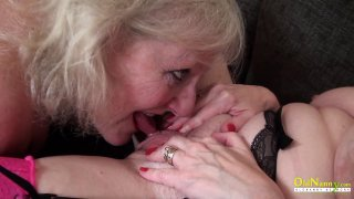 OldNannY Lily May and Claire Knight Lesbian Video Preview Image