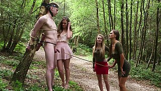 CFNM foursome in the forest Preview Image