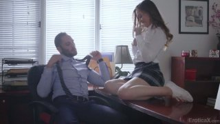 Lewd college chick Danni Rivers_is having_crazy sex fun with her teacher Preview Image