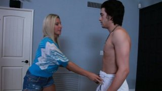 Naked guy turns on_Devon Lee and gets nice_blowjob Preview Image