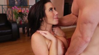 Rubbish slut Jayden Jaymes sucks hard cock and gets her_wet pussy licked dry Preview Image