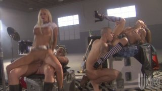 Rock band orgy with kinky sluts Kirsten Price and Lichelle Marie Preview Image