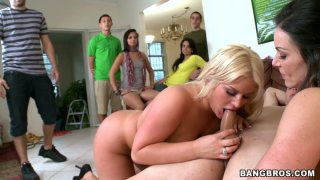 Cock riding orgy with Kayla Carrera, Jamie Valentine, Julie Cash, Kiara Marie, Kendra Lust Preview Image