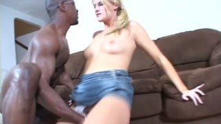 Black dude feeds and fingers sexy blonde whore Delilah Stone Preview Image