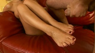 Dirty brunette Destiny satisfies foot fetish of this man Preview Image