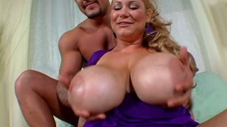 Freaky and beautiful milf Samantha 38G shows off her jumbo boobs Preview Image