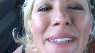 Funny blonde milf Renee has_sexy fun_with dick in the van Preview Image
