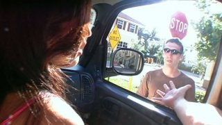 Busty brunette Shy Love_gets poked doggy in the_car Preview Image