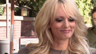 Naughty blonde milf Stormy Daniels blows dick of a young man Preview Image