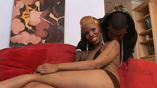 Whorish homely black chick Poison Ivy wants to suck a cock Preview Image
