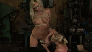 Blonde skanks Kathia Nobili and Adriana Russo in hot BDSM session Preview Image