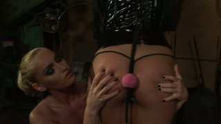 Dirty BDSM lesbo game with Kathia Nobili and Adriana Russo Preview Image