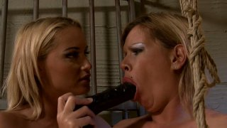 BDSM fun in the prison cage with_naughty MILFs Pamela and Kathia Nobili Preview Image