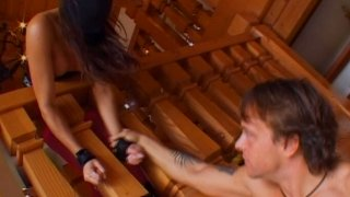 Dirty brunette Michelle Lay loves to deepthroat random cock Preview Image