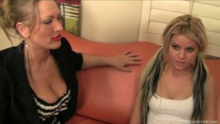 Sultry kitties Vicky Vixen and Jessa Rhodes get caught on_the customs control Preview Image