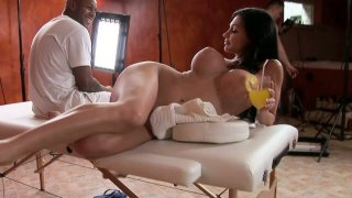 Aletta Ocean fools around during the break between the video scenes Preview Image