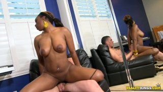 lisa anal - Big bottomed ebony chick_lisa tiffian rides white cock Preview Image