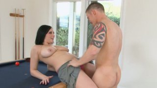 Dirty brunette Lexy Mae gives to Shane Reno awesome titjob and deepthroat blowjob Preview Image
