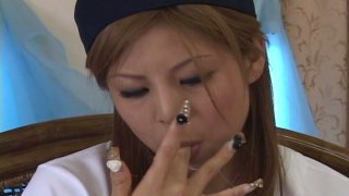 Sloppy blowjob ends up with huge mouthful for Kana Kawai Preview Image