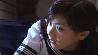 Cute Japanese teen Aki Hoshino loves sports and orange panties Preview Image
