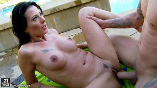 Voracious Zoey Holloway furiously fucks outdoors Preview Image