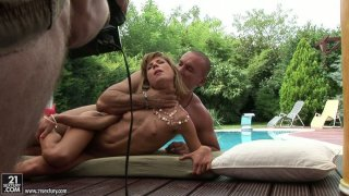 Skinny blonde chick Ioana gets her tight snatch railed hard Preview Image