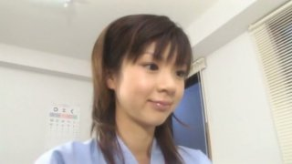 Petite Asian teen_Aki Hoshino visits doctor_for check-up Preview Image