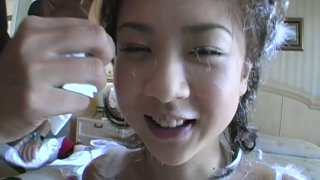 Japanese petite teen Aki Hoshino shopping and showing off in the underground parking lot Preview Image