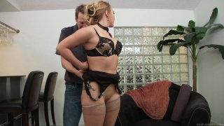 Kinky Mark Wood pokes_the quim of slutty AJ Applegate from behind Preview Image