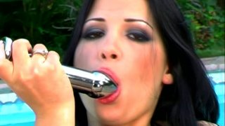 Seductive brunette babe Rebeca_Linares gets involved in a hot threesome action Preview Image